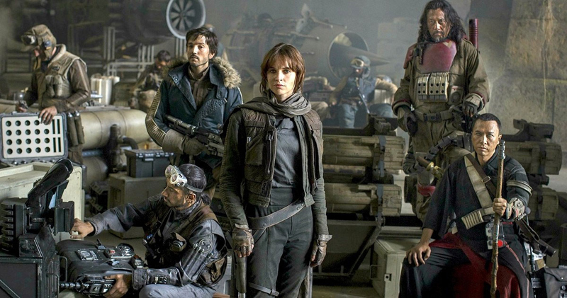 personagens de rogue one uma historia star wars juntos